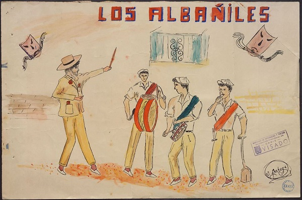 Los Albañiles - Boceto