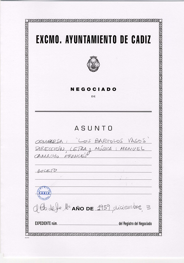 Los Bartolos Vagos - Carpeta de Inscripción