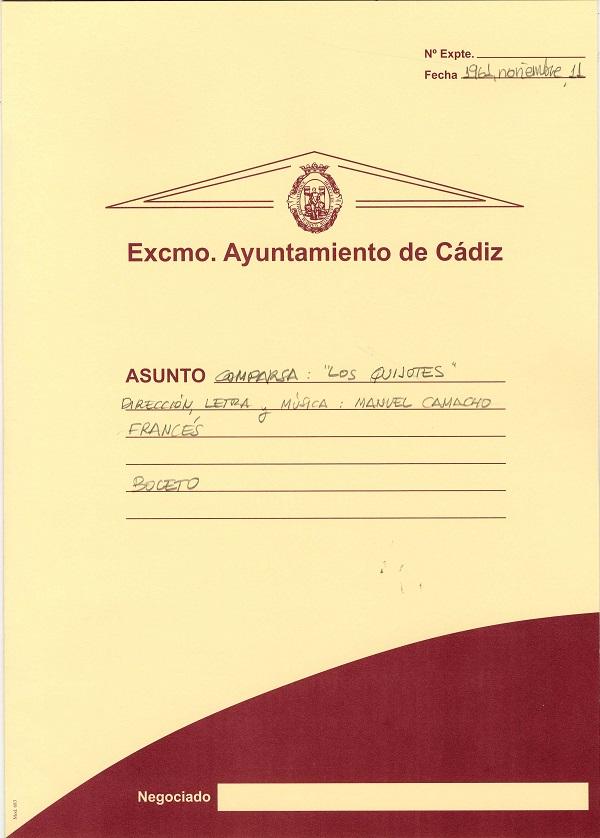 Los Quijotes - Carpeta de Inscripción
