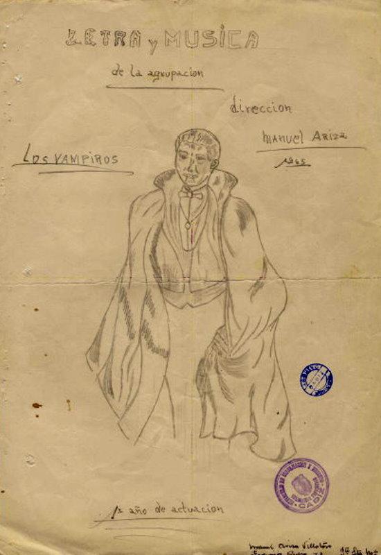 """Boceto de la Agrupación """"Los Vampiros"""""""