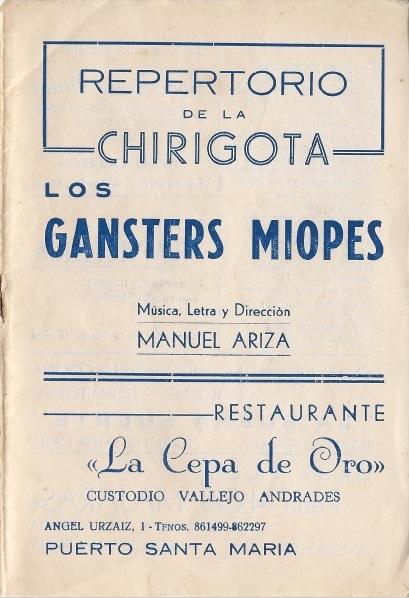 Los Gánster Miopes - Cancionero