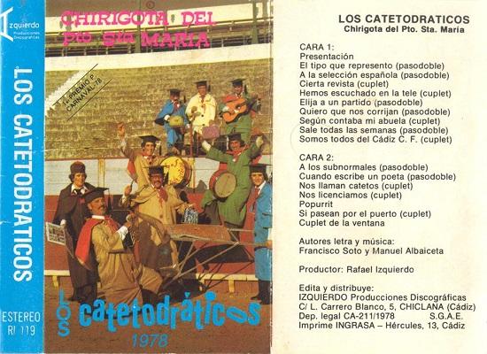 Los Catetodráticos - Carátula Cassette