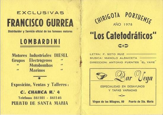 1978 - Los catetodráticos - Cancionero