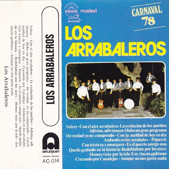 Los Arrabaleros - Portada Cassette