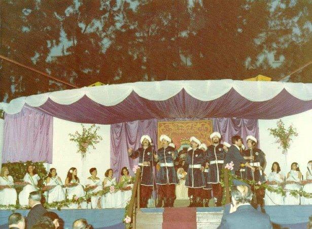 Caseta Municipal de Chiclana durante el acto de Coronación de la Reina de la Feria en 1978