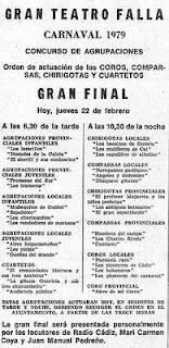 Gran Final del COAC del Gran Teatro Falla 1979