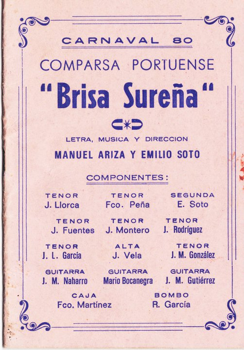 Brisa Sureña - Cancionero
