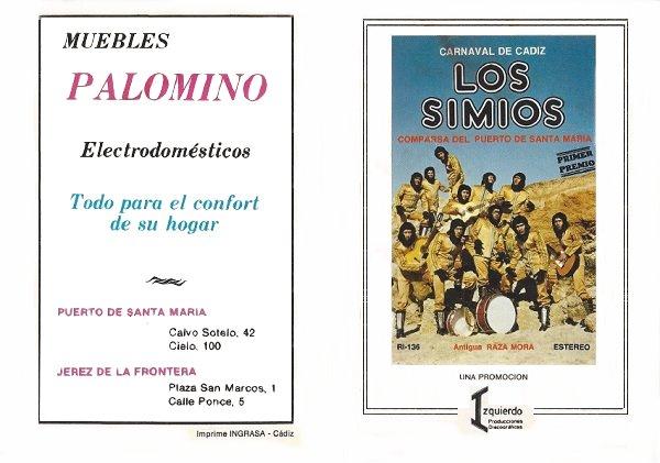 1980.- Los Simios - Cancionero