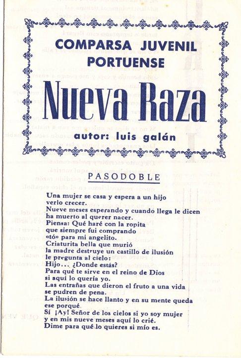 Nueva Raza - Cancionero