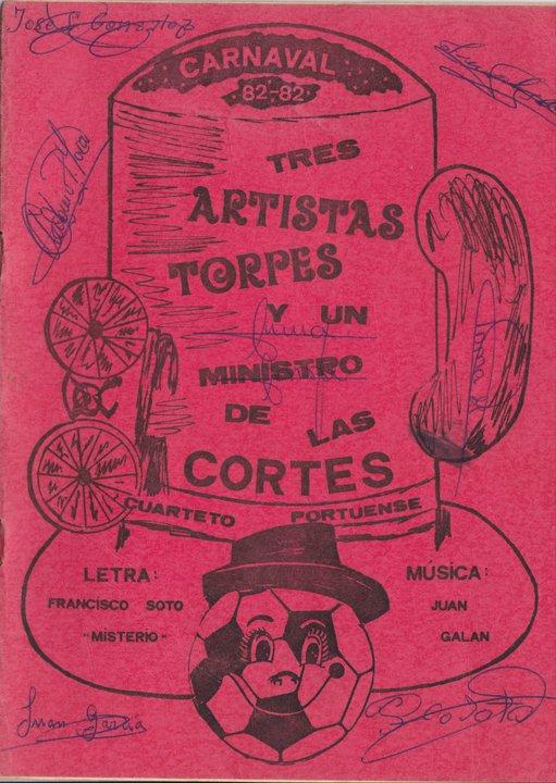 Tres artistas torpes y un ministro de las cortes - Cancionero