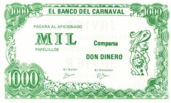 Billete de Don Dinero