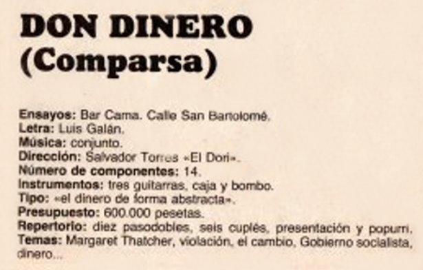 Don Dinero - Datos