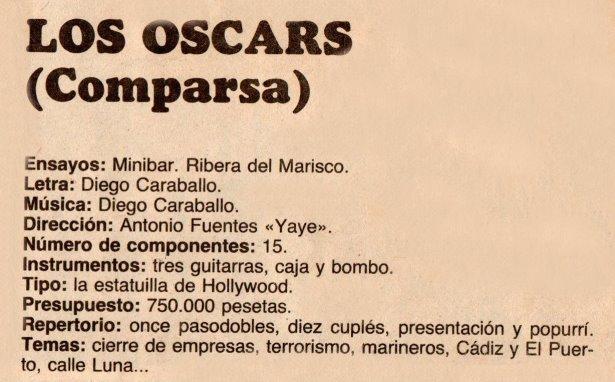 1983.- Los Oscar . Datos
