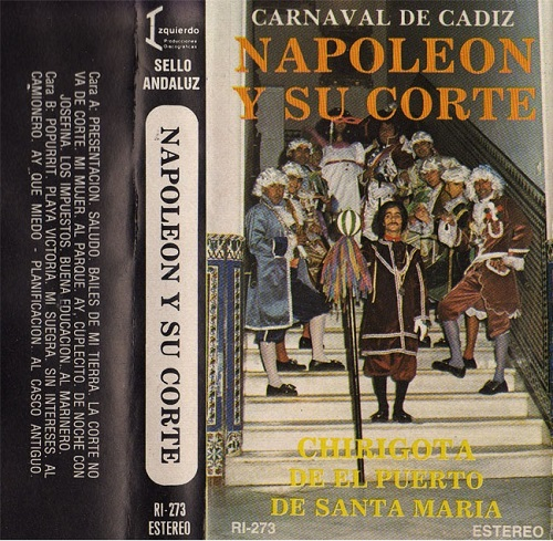 1985.- Napoleón y su corte - Carátula Cassette