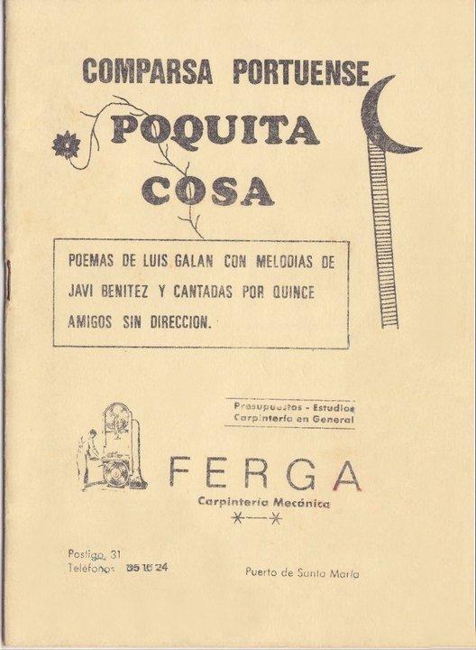 Poquita Cosa - Cancionero