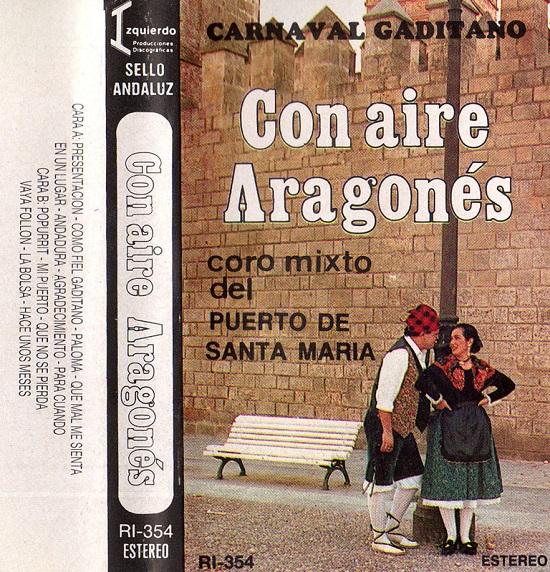 Con aire aragonés - Portada Cassette