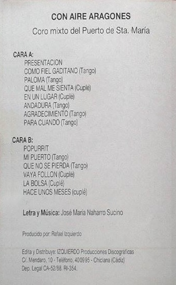 Con aire aragonés - Interior Cassette