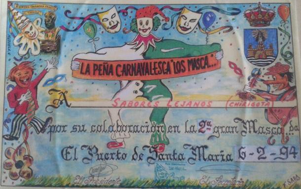 Sabores lejanos - Diploma Los Masca