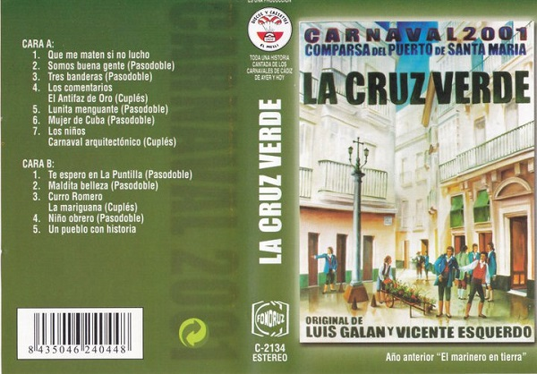 La Cruz Verde - Carátula Casset