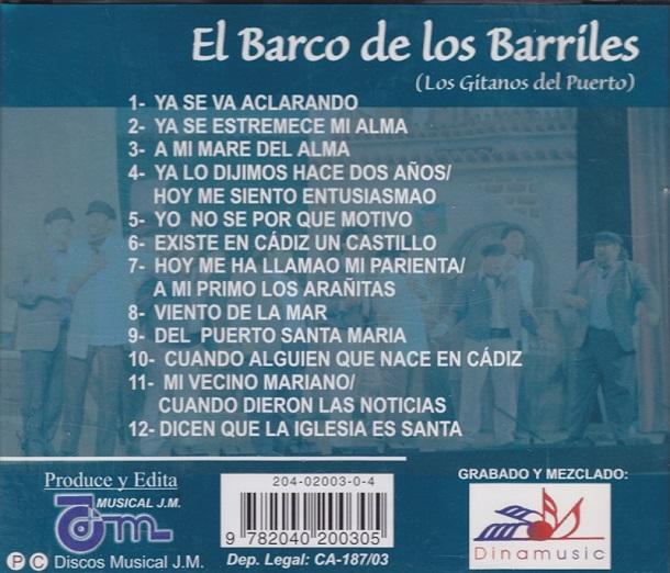 El Barco de los Barriles - Contraportada CD