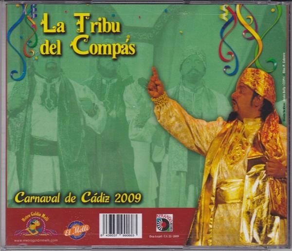 La Tribu del Compás - Contra-portada del CD