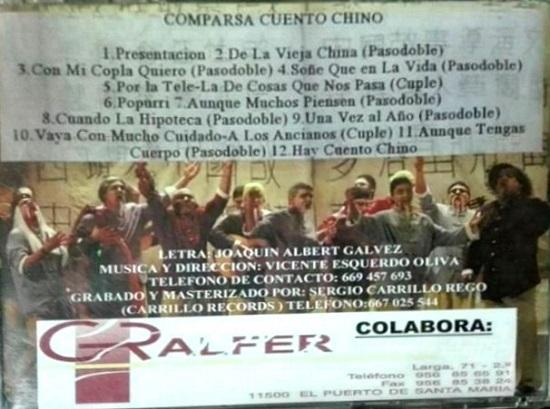 Cuento Chino - Contra-Portada del CD