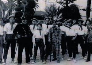 Don Celedonio, el Guardia y sus Maletillas