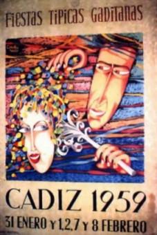 Cartel Oficial de Cádiz 1959.