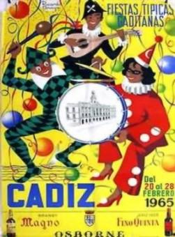 Cartel Oficial de Cádiz - 1965.