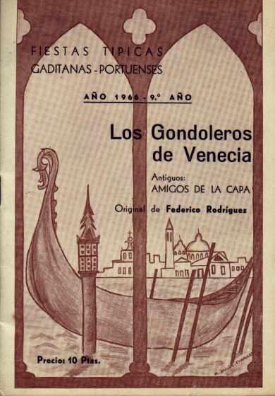 Los Gondoleros de Venecia - Cancionero
