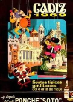 Cartel Oficial de Cádiz - 1969.