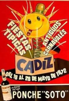Cartel Oficial de Cádiz 1972.