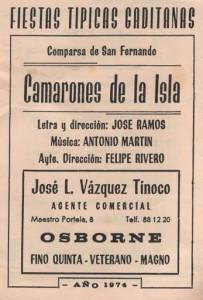 Camarones de la isla - Cancionero