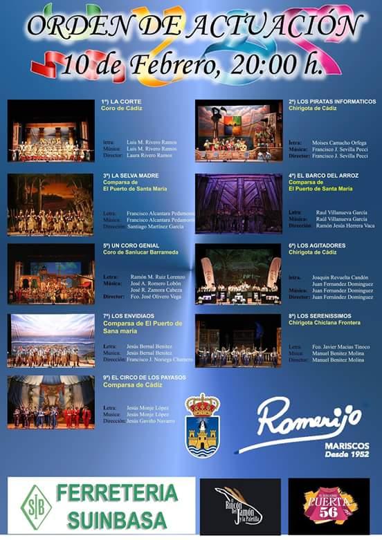 Orden de actuación 10-02-16 - CArtel