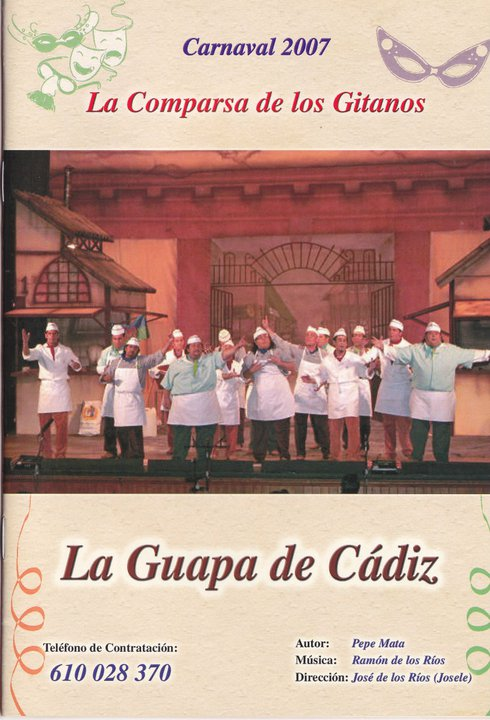 La guapa de Cádiz - Cancionero