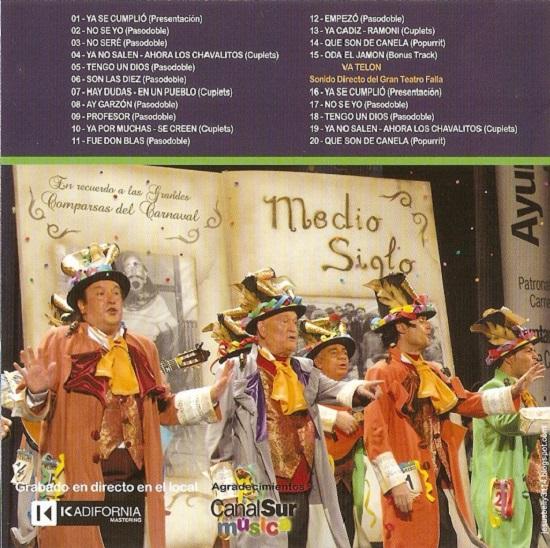 Medio Siglo - Contra - Portada del CD