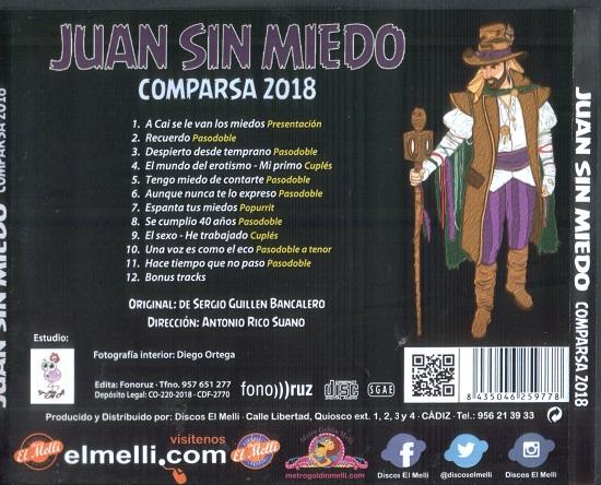 Juan sin miedo - Contraportada del CD
