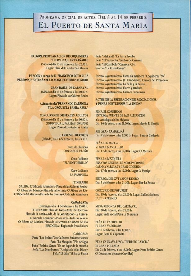 Programa Oficial de Actos