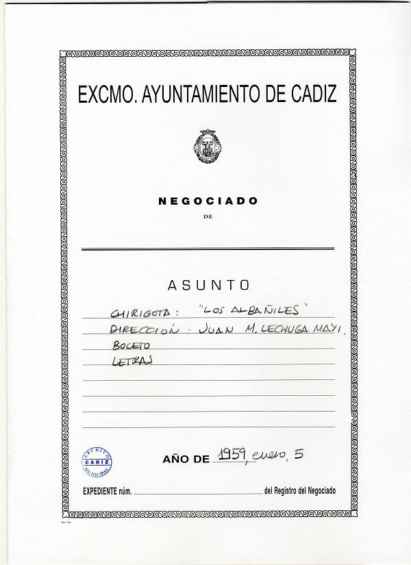 Los Albañiles - Carpeta de Inscripción
