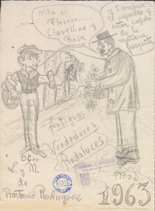 Los Vendedores Antiguos Andaluces - Boceto