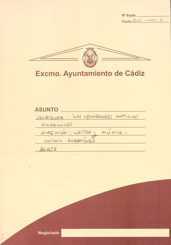 Los Vendedores Antiguos Andaluces - Carpeta de Inscripción