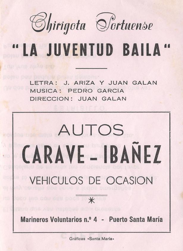 La Jubentud Baila - Portada de su Cancionero