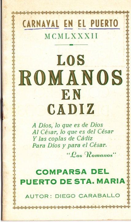 Los romanos en Cádiz - Cancionero