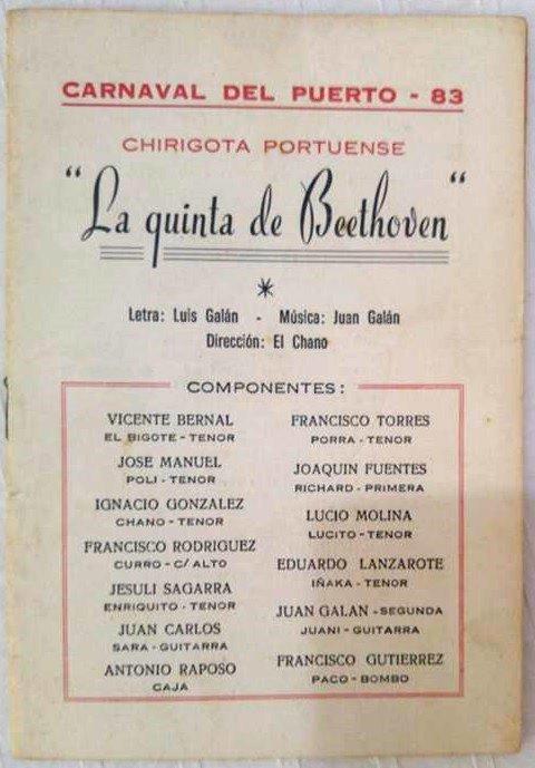 La Quinta de Beethoven - Cancionero