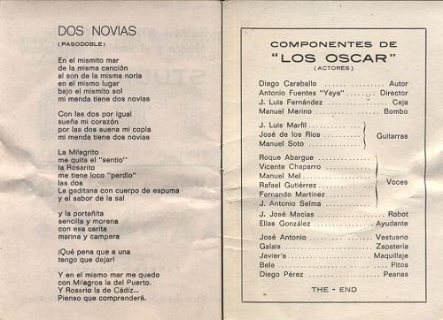 Los Oscar - Cancionero