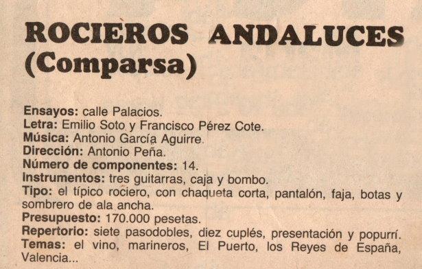 Rocieros Andaluces - Datos