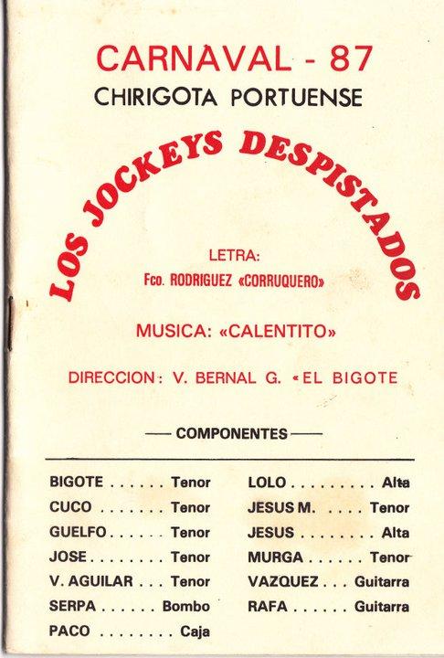 Los Jockeys despistados - Cancionero