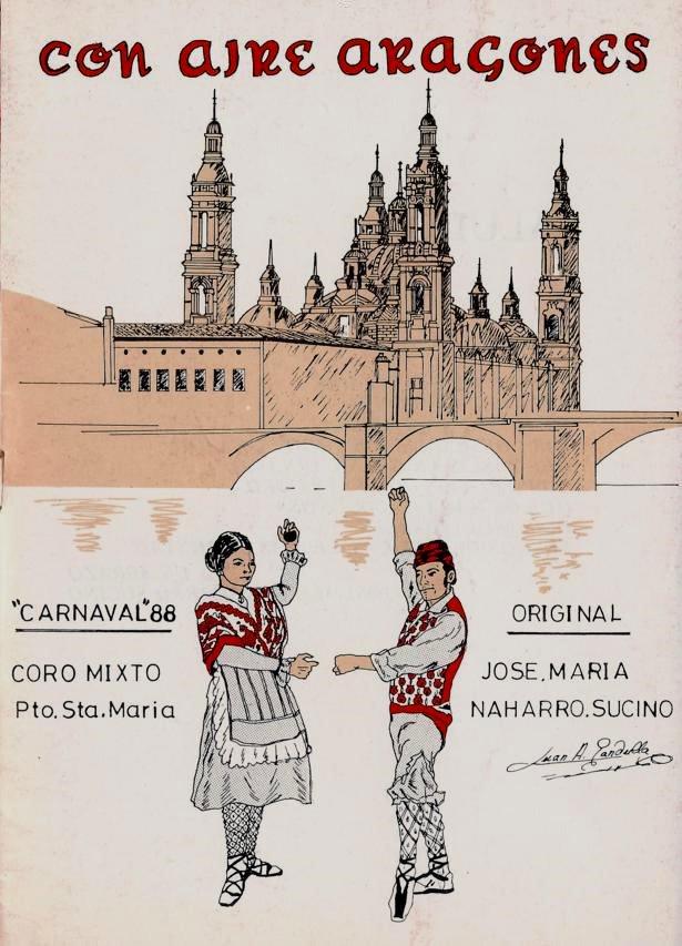 Con aire aragonés - Portada de su Cancionero