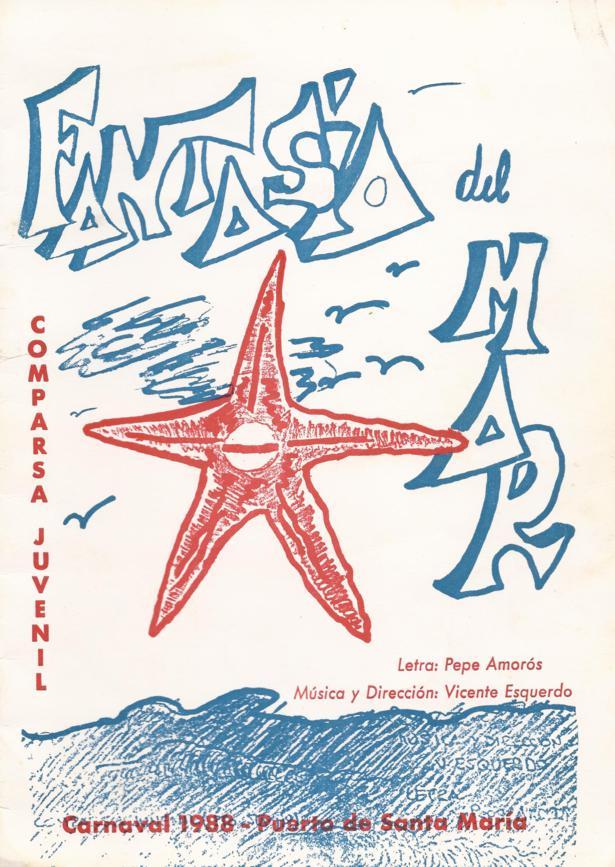Fantasía del Mar - Portada de su Cancionero