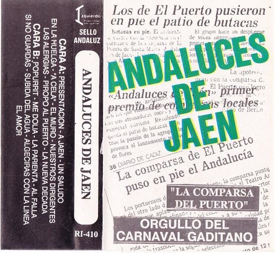 Andaluces de Jaén - Caratula Cassette